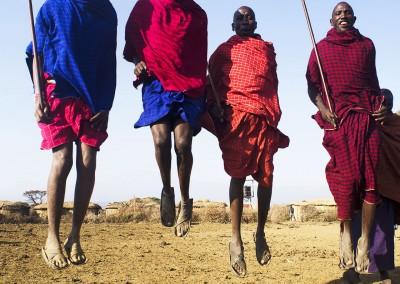 Maasais en Kenya
