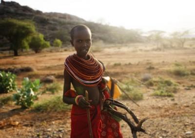 Niña en Kenya