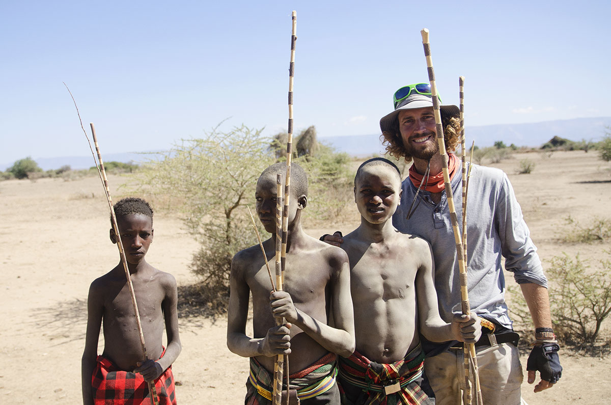 Maasais cerca del lago Eyasi