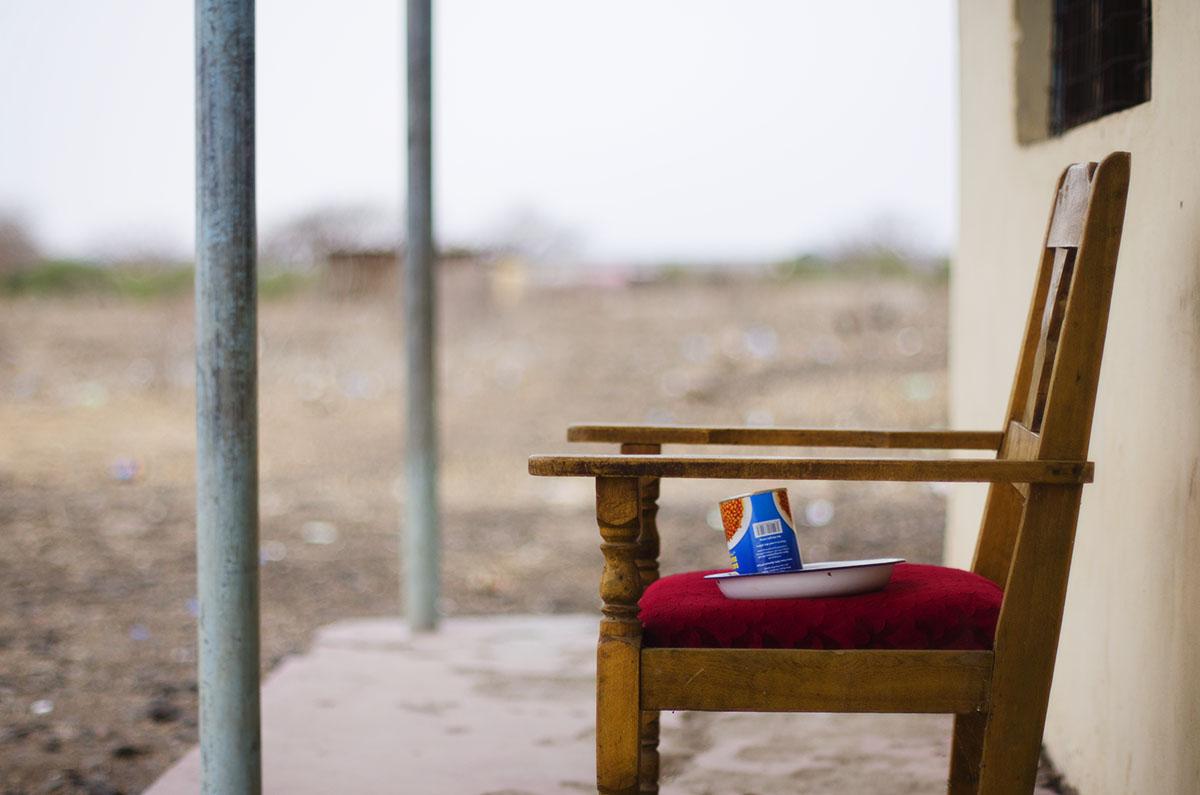 Comida del día en una comisaría en Kenya