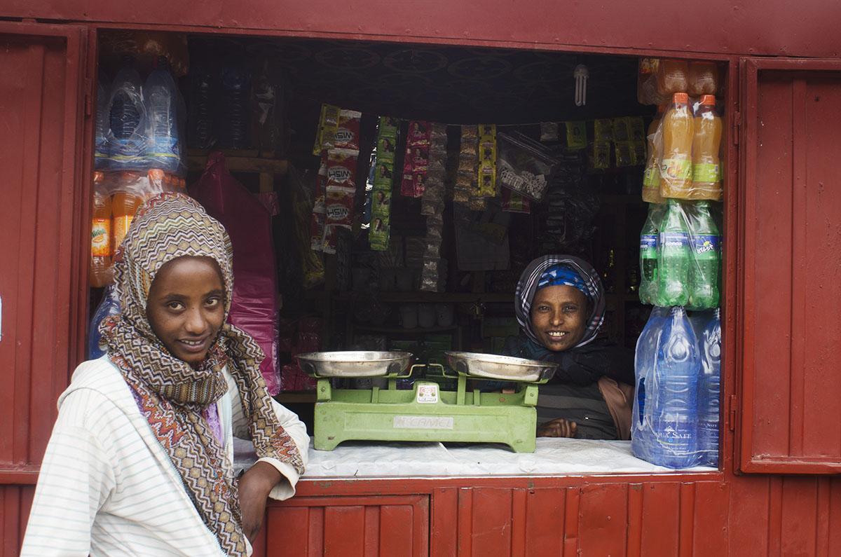 Supermercado en un pueblo de Etiopía