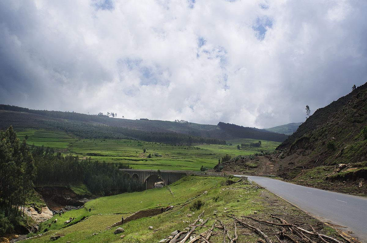 Carretera en el norte de Etiopía