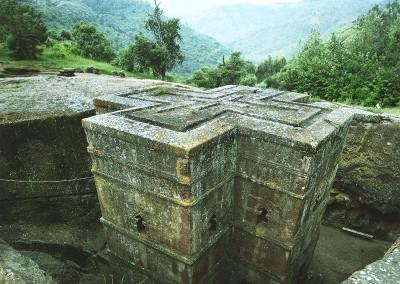 Iglesia de San Jorge en Lalibela (Etiopía)