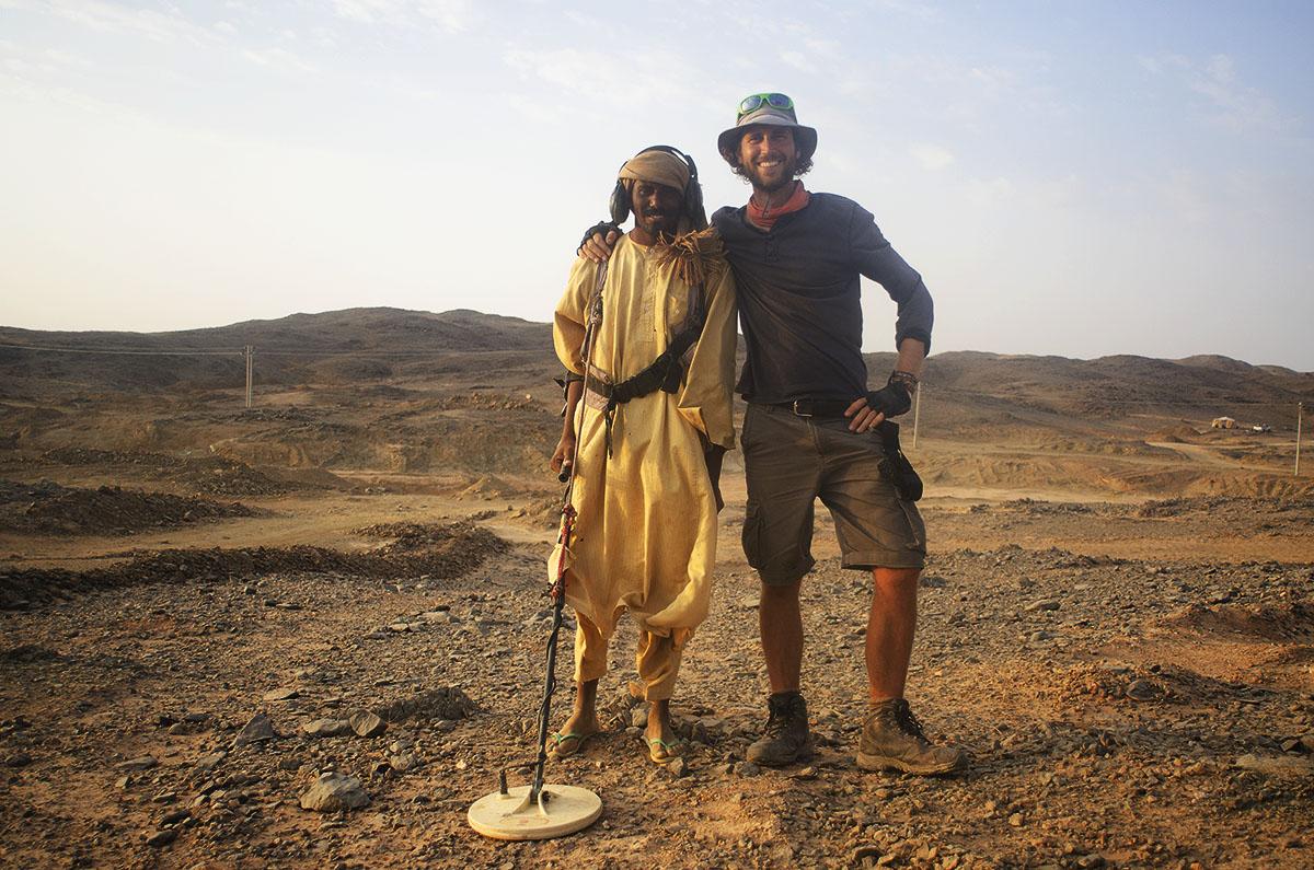 Buscador de oro en Sudán