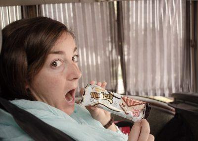 l'Ana i el menjar del bus